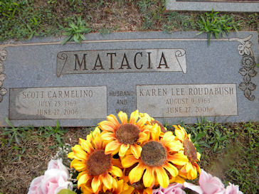 Grave Marker for Scott & Karen
