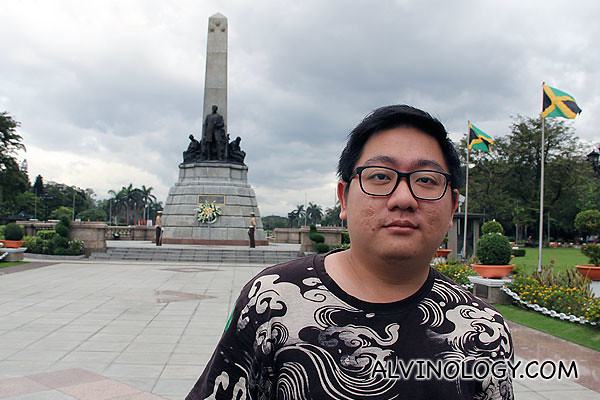 Me in front of the Rizal Monument