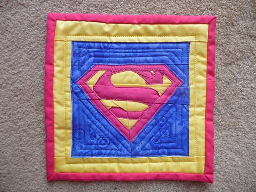 Superman Mug Rug
