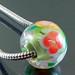Charm bead : Olive green