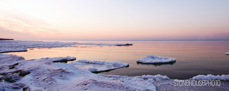Lake Superior Winter Sunset