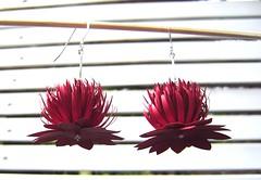 Paper waratah earrings