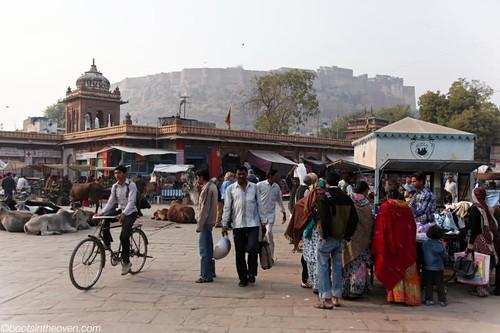In Jodhpur's Central Square