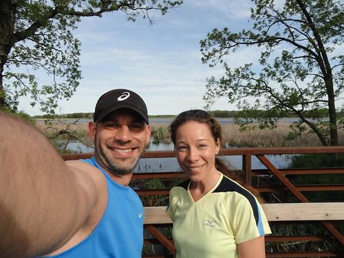 Shannon and I at Sherburne National Wildlife Refuge