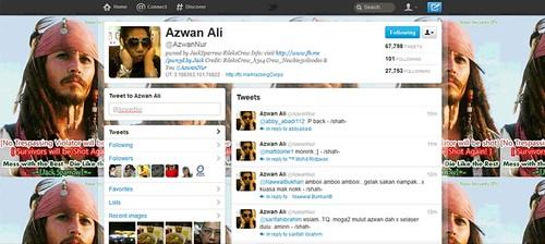 Twitter Azwan Ali digodam RileksCrew