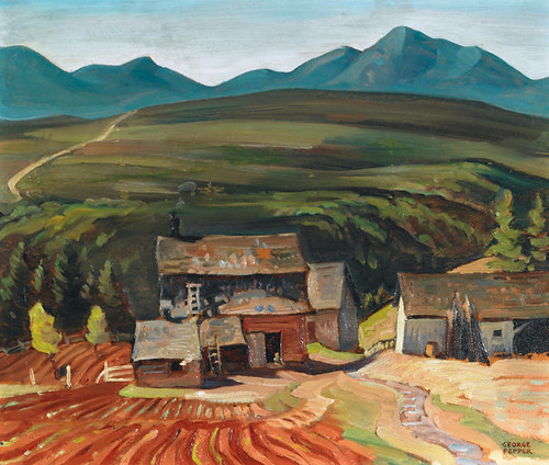 George Douglas Pepper, Farmyard in the Hills