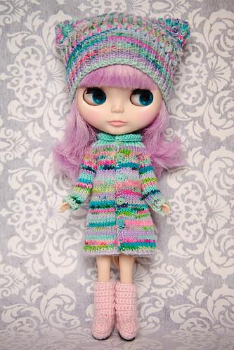Chloë models her new Megipupu outfit