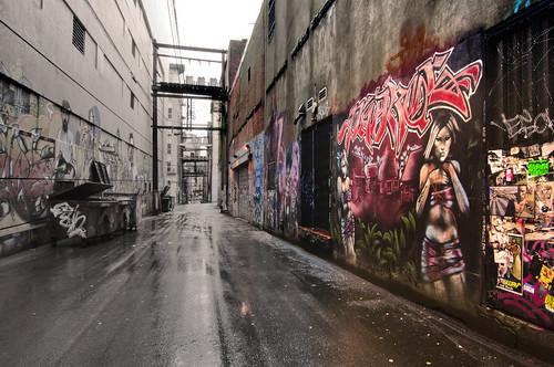 Alley Graffiti, South of Cordova & Richards