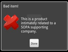 Boycott SOPA Android app