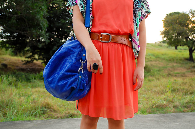 denise katipunera, pinay fashion blogger, fashion on budget, mommy style, cobalt bag, leopard print wedges, orange dress