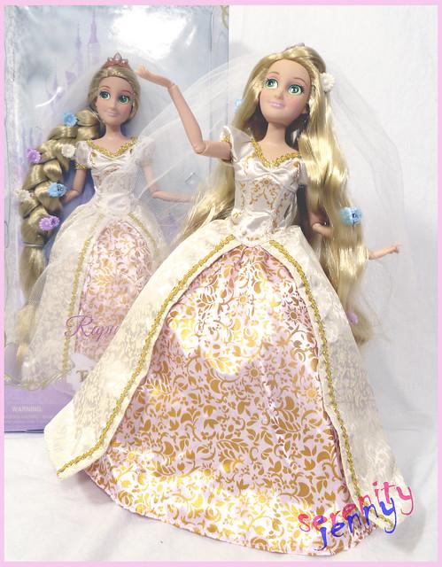 blond rapunzel wedding doll disney princesses