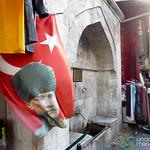 Ataturk Flag near Spice Market - Istanbul, Turkey