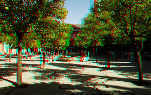 Seville in anaglyph