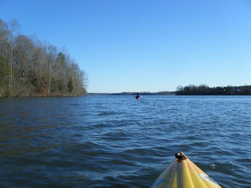Paddling on Lake Robinson