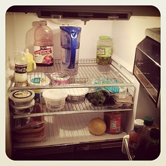 Tony got the wild hair to clean the fridge today, cleanest it's been since we moved in. #day29 #janphotoaday