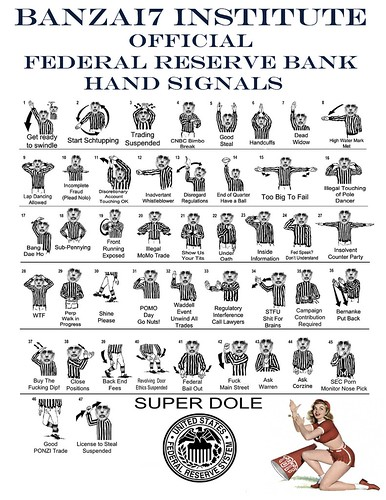 FEDERAL-RESERVE-BANK-HAND-SIGNALS by Colonel Flick
