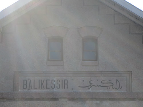 Balikesir: Name on train station (1)