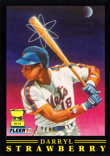 Baseball Card Bust Darryl Strawberry 1991 Fleer Pro Visions