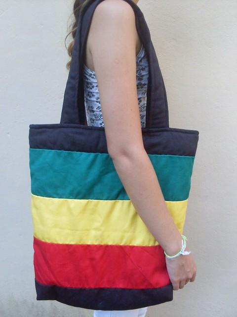 Bolsa De Tecido Reggae : Bolsa em tecido nas cores do reggae flickr photo sharing