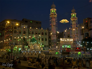 The Shrine of Dulha Sabzwari Bukhari Shah, Kharadar, Karachi.