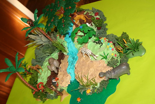 Finished Jungle Birthday Cake