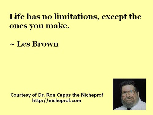 Les Brown on Life's Limitations
