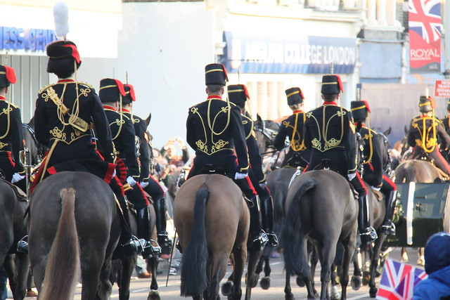King's Troop arriving in Woolwich