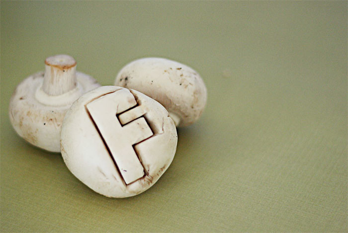{f} is for fungi