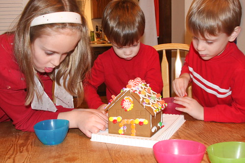 Making the gingerbread house 2011