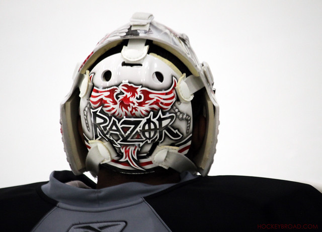 Ray Emery's back plate