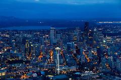 [フリー画像素材] 建築物・町並み, 都市・街, 夜景, 風景 - アメリカ合衆国, アメリカ合衆国 - シアトル ID:201202132000