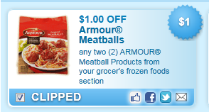 Armour Meatball Products Coupon