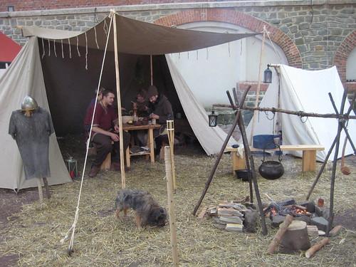 Lager auf einem Mittelaltermarkt