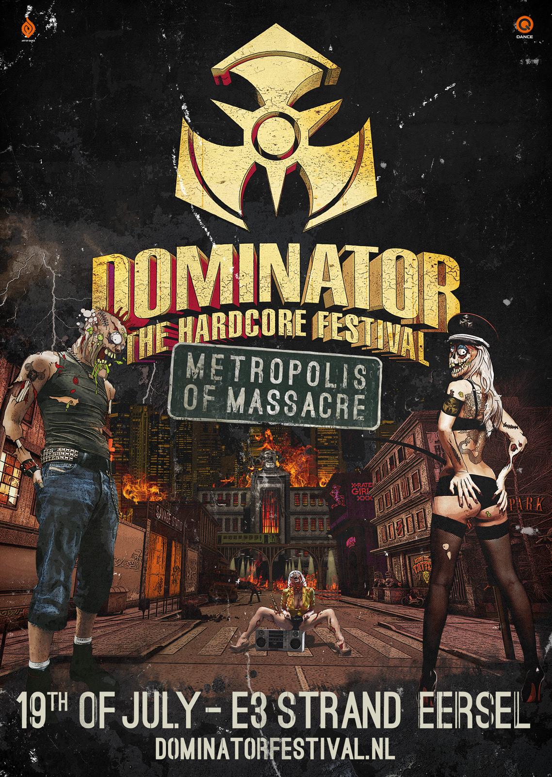 cyberfactory 2014 dominator hardcore festival e3 strand eersel nederland