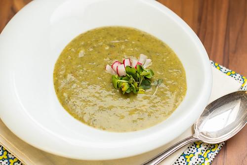 Kräuter Radieschen Suppe