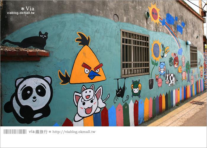 【彰化景點推薦】乳牛彩繪村(福寶村)~數百頭彩色小牛+夢幻藍晒圖的彩色村20