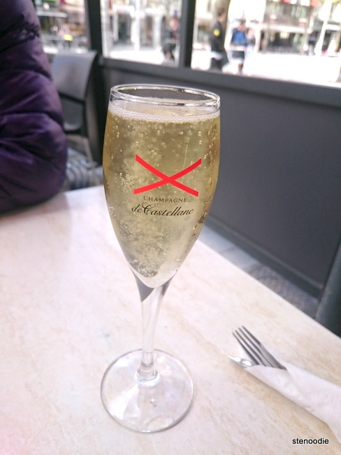 Champagne in a coupette glass