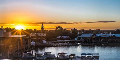 marina sunrise waterfront westernaustralia mandurah