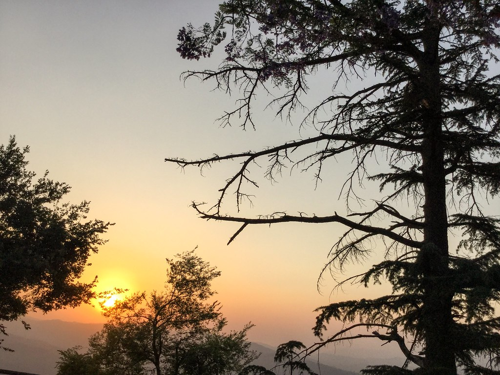 Sunset in the Himalayan town Almora