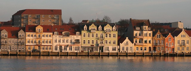 Colourful houses in Sonderborg