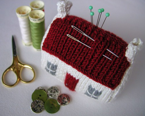 Red Roof Croft House Pin Cushion