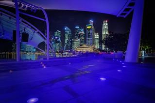 Esplanade Theatres जवळ सिंगापुर की छवि. night buildings singapore asia esplanade hugin tokina1224mmf4 nikond7000