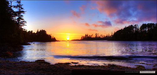 sunset panorama vancouverisland ucluelet hdr terracebeachresort