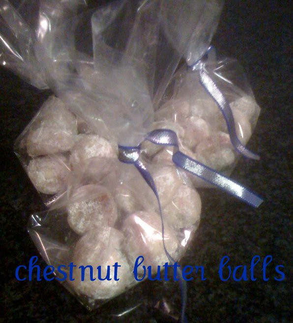 chestnut butter balls