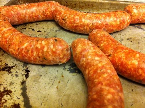 Oyster Rockefeller Sausages
