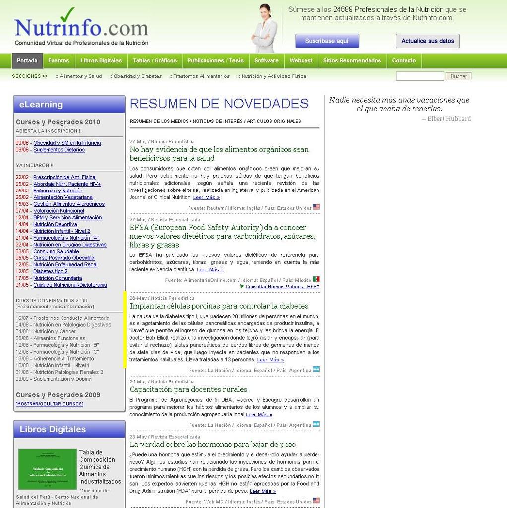 Site Nutrinfo 26-5-10