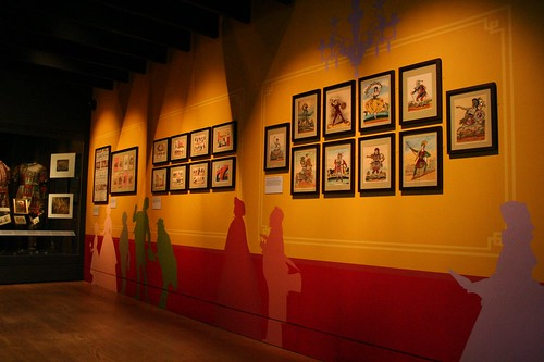 Display of hand painted actor prints