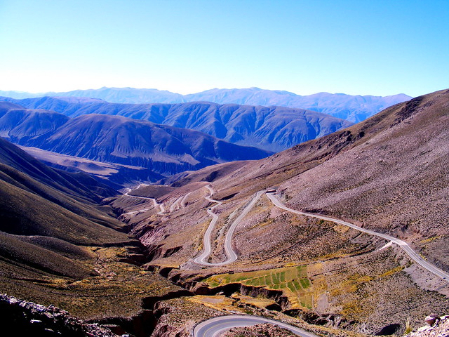 Ascending the altiplano in Jujuy, Argentina