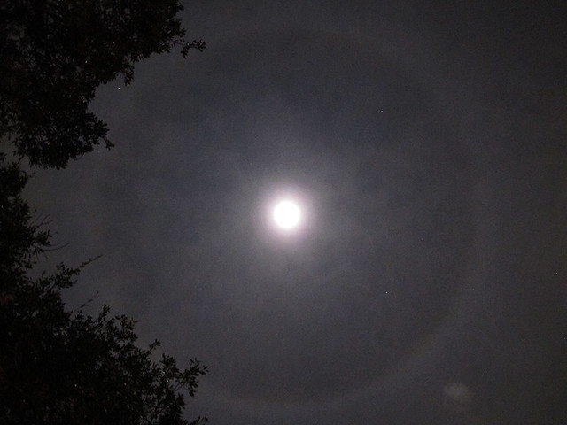 Weird Ring Around The Moon