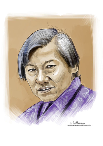 digital portrait of Mr Tan Wee Khim (Netball President) revised